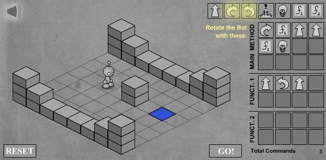LightBot - скриншот прохождения второго уровня