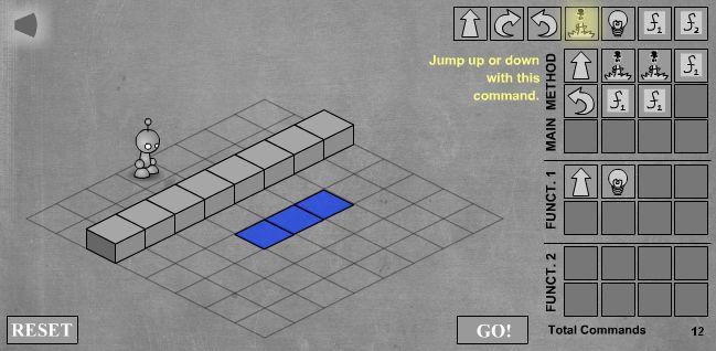 LightBot - скриншот прохождения третьего уровня