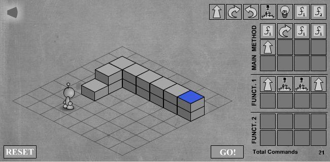 LightBot - скриншот прохождения четвертого уровня