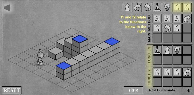 LightBot - скриншот прохождения шестого уровня