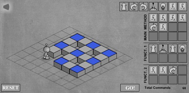 LightBot - скриншот прохождения восьмого уровня