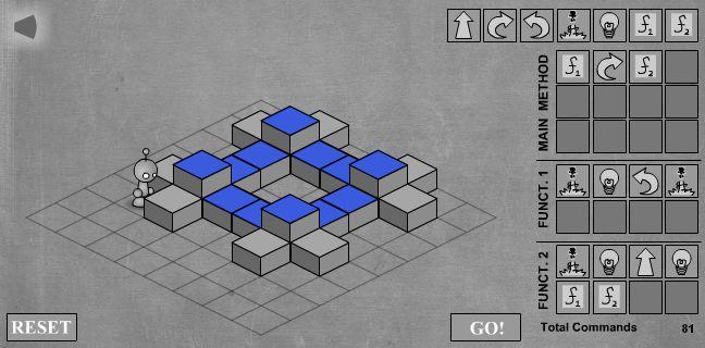 LightBot - скриншот прохождения девятого уровня