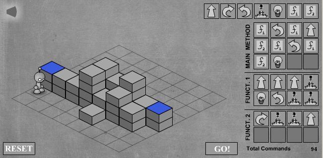 LightBot - скриншот прохождения десятого уровня