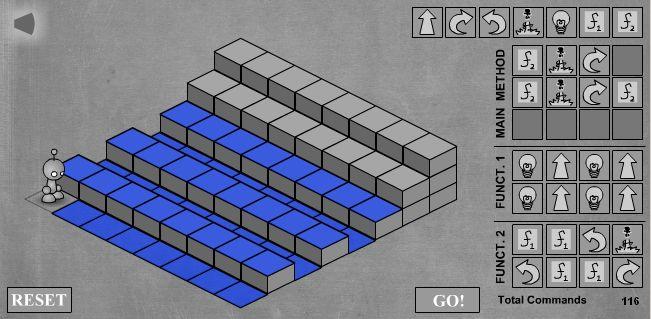 LightBot - скриншот прохождения одиннадцатого уровня