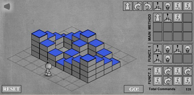 LightBot - скриншот прохождения последнего двенадцатого уровня