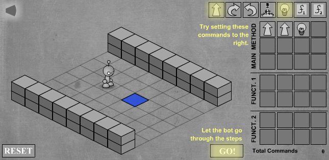 LightBot прохождение первого уровня